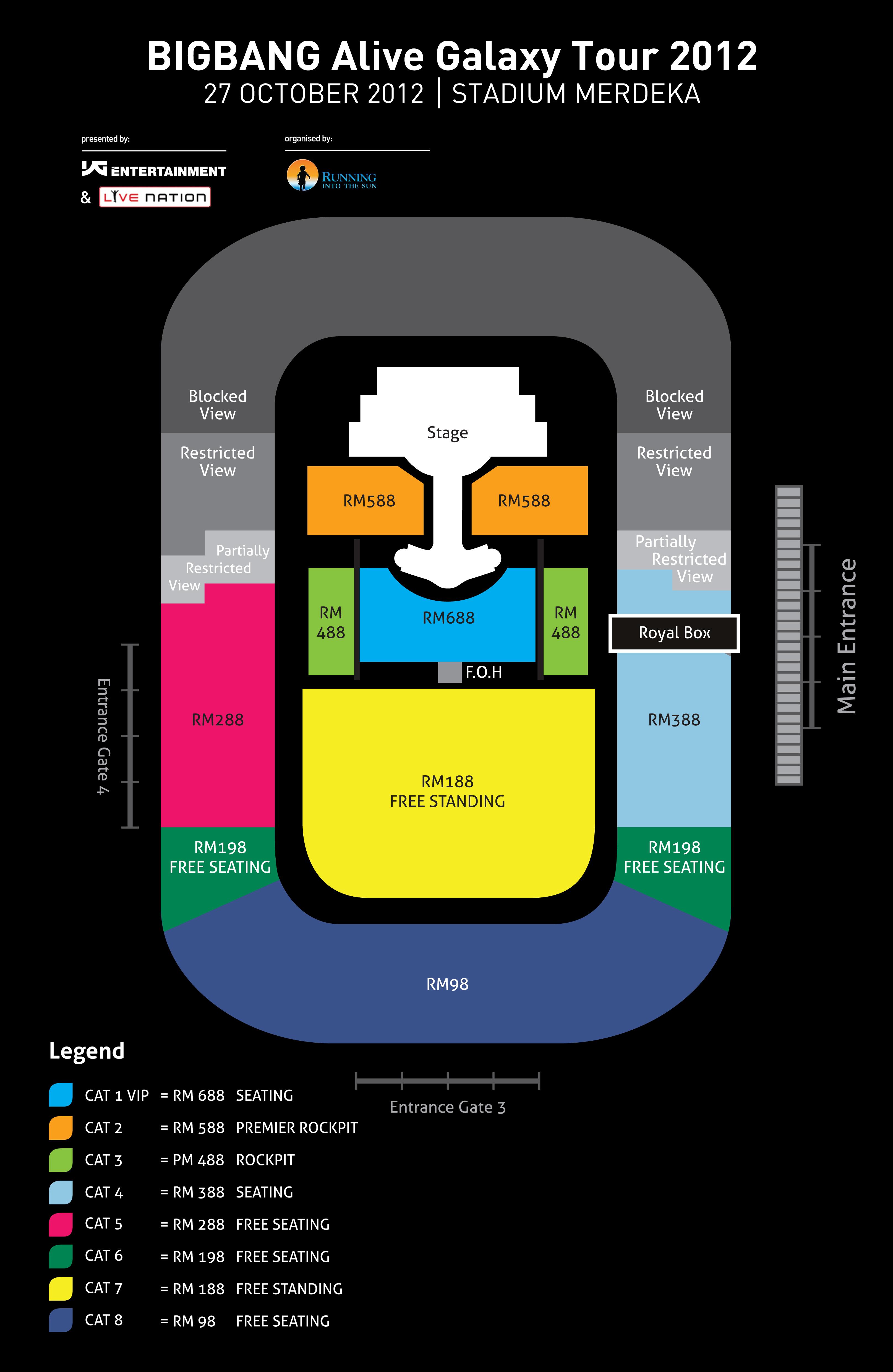 M Sia Bigbang Alive Galaxy Tour 2012 In Malaysia X Clusive★