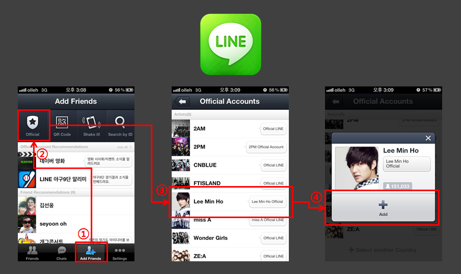 Kpop Official Line Accounts For Kpop Stars Are Now Available In Singapore Malaysia Indonesia X Clusive
