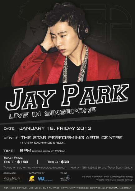 Jay Park 2013 Singapore Concert Poster