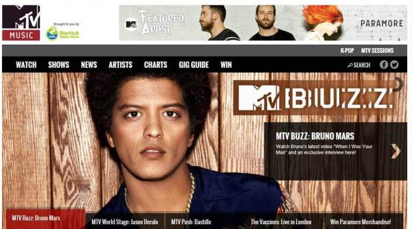 MTV Music Main Page