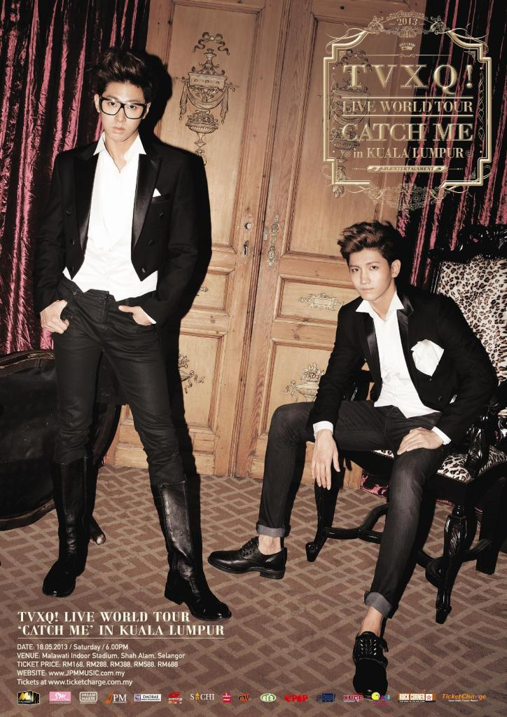 TVXQ Live World Tour Catch Me in KL Poster_042513