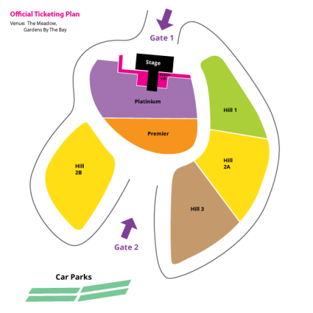 Korean Music Wave in Singapore 2013 Seating Plan