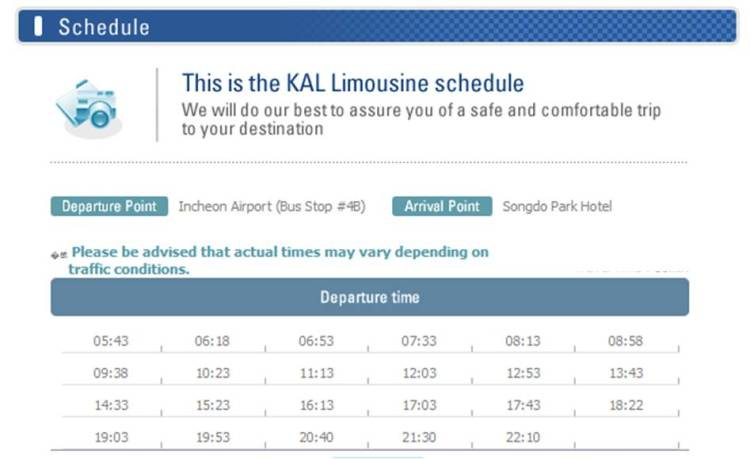 KAL Limousine (Incheon Airport to The Plaza Hotel)