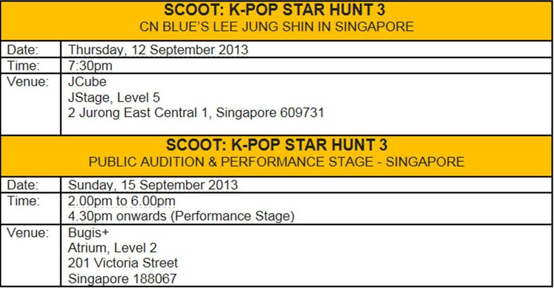 Scoot K-Pop Star Hunt 3 - Lee Jung Shin