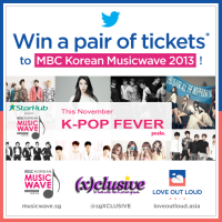 WIN! Passes to attend MBC Korean Music Wave in Singapore 2013