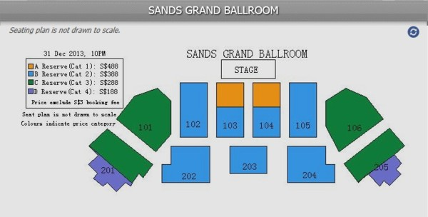 Sands Grand Ballroom Seating Plan - SGX