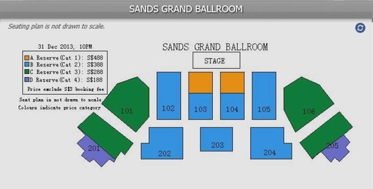 Sands Grand Ballroom Seating Plan - SGX