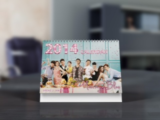 Mockup 2 Marriage Blue Calendar 2014