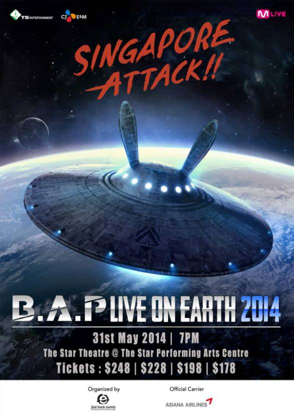 BAP Live on Earth Concert Singapore 2014 sgXCLUSIVE