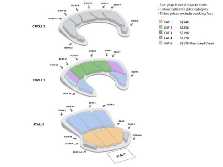 BAP Live on Earth Singapore 2014 Seat Plan sgXCLUSIVE