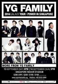 YG Family 2014 Galaxy Tour: Power inSingapore