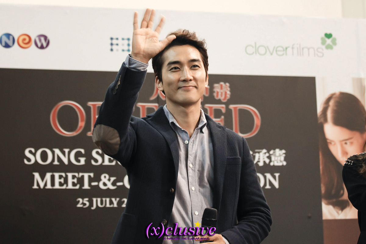 Xclusive actor song seung heon charms fans at obsessed meet and korean heartthrob song seung heon was in town last friday to promote his upcoming movie obsessed at the obsessed singapore meet and greet session held at kristyandbryce Gallery