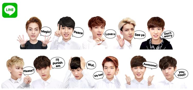 LINE x EXO Stickers