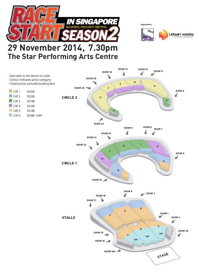 Running Man Singapore Fanmeeting 2014 Seating Plan