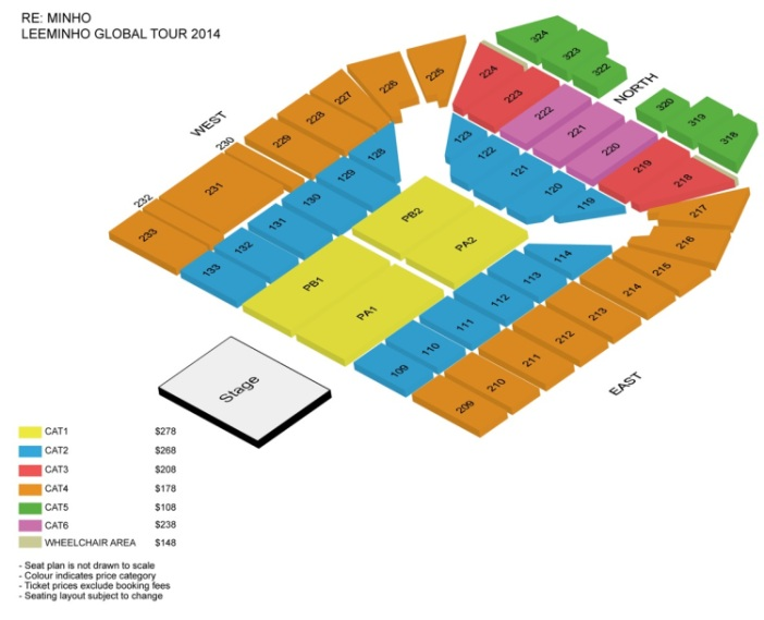 Lee Minho Seating Plan in Singapore sgXCLUSIVE