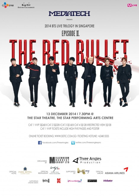 BTS 2014 Live Trilogy Episode II: The Red Bullet in Singapore