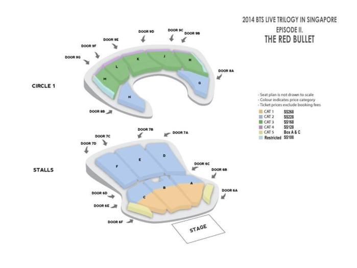 BTS Seating Plan in Singapore sgXCLUSIVE