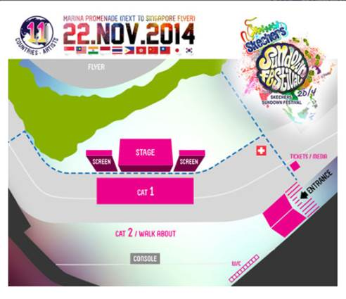 Sundown Festival 2014 Seating Plan