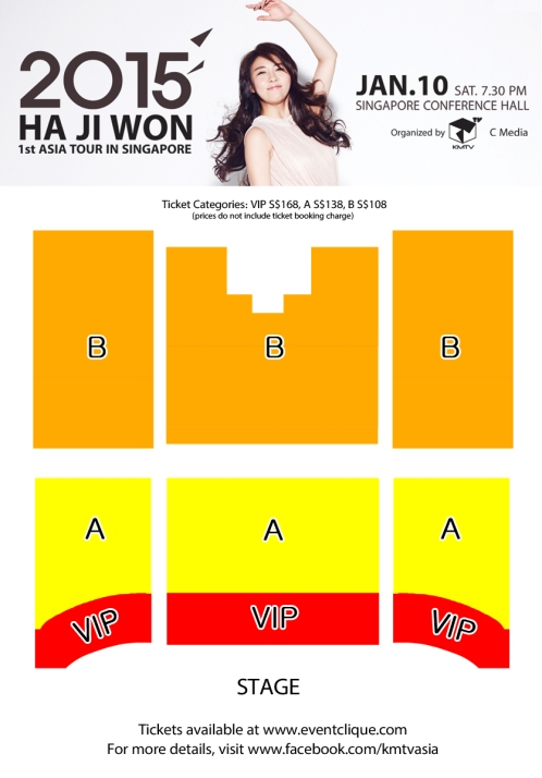 Ha Ji Won Singapore Fanmeeting Seating Plan