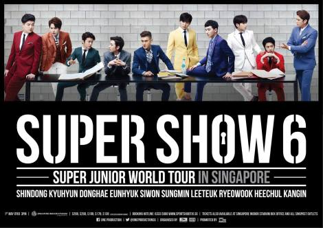 Super Junior 'SUPER SHOW 6' to be held in Singapore this May!